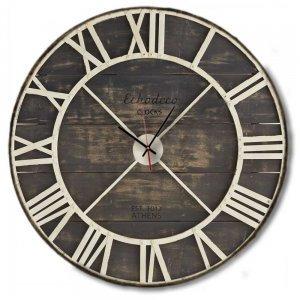Vintage - Χειροποίητο Ρολόι τοίχου White Metallic Skeleton Echo Deco Clocks