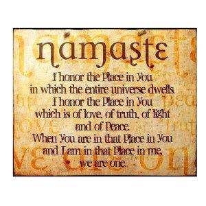 Ξύλινος Ρετρό Πίνακας Χειροποίητος 'Namaste'