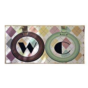 Ξύλινος Ρετρό Πίνακας Χειροποίητος Ταμπέλα για το WC 13X26εκ