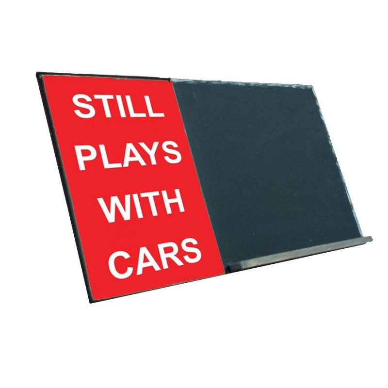 Still Plays With Cars Ξύλινο Χειροποίητο Μαυροπινακάκι 40x26 cm