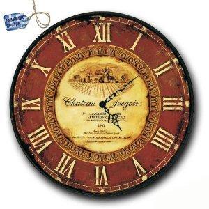 Vintage Ρολόι τοίχου Chateau - Ξύλινο Χειροποίητο 48cm