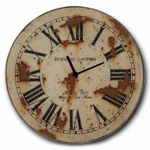 Vintage Ρολόι τοίχου Dewberry London - Ξύλινο Χειροποίητο 48cm