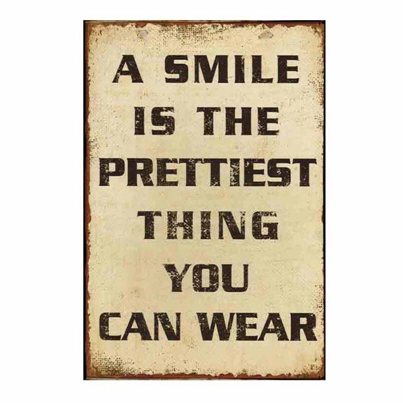 A smile  Vintage Ξύλινο Πινακάκι 21 x 30 cm 1750