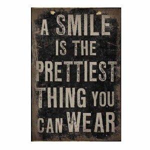 A smile - Vintage Ξυλινο Πινακάκι 21 x 30 cm 1752
