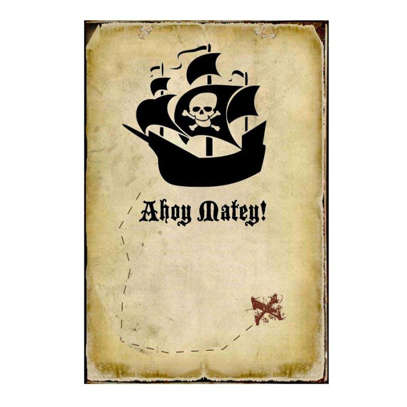Ahoy Matey -Ξύλινος  Πίνακας Χειροποίητος 20 x 30 cm