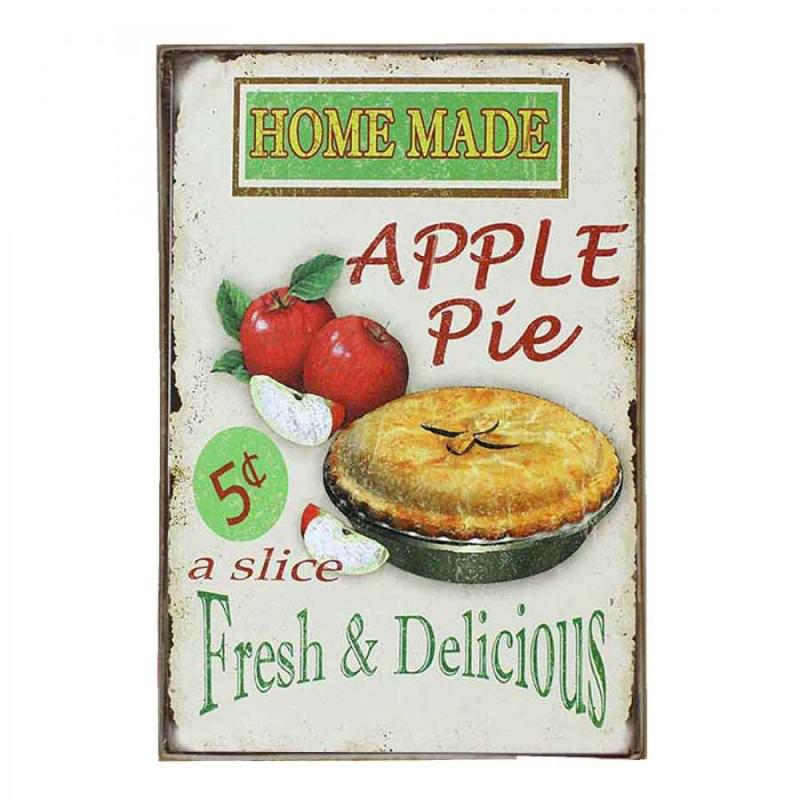 Apple Pie Vintage Ξύλινο Πινακάκι 20 x 30 cm