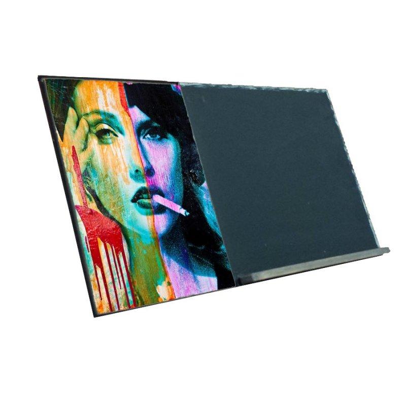 Art  Ξύλινος Χειροποίητος Μαυροπίνακας 38 x 26 cm