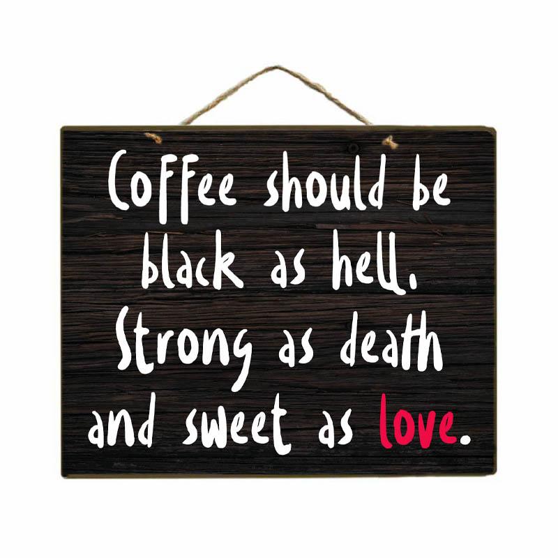 Black Coffee - Πίνακας Χειροποίητος Διακοσμητικός