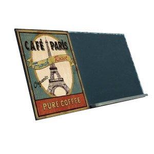 Café Paris  Ξύλινος Χειροποίητος Μαυροπίνακας 38 x 26 cm