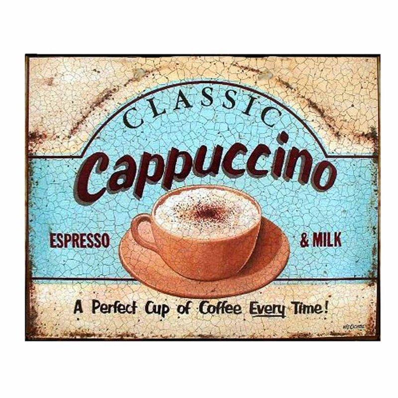 Cappuccino - Retro Πίνακας Χειροποίητος