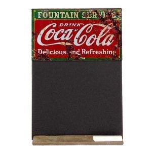 Coca Cola Ξύλινος Χειροποίητος Μαυροπίνακας 38 x 26 cm