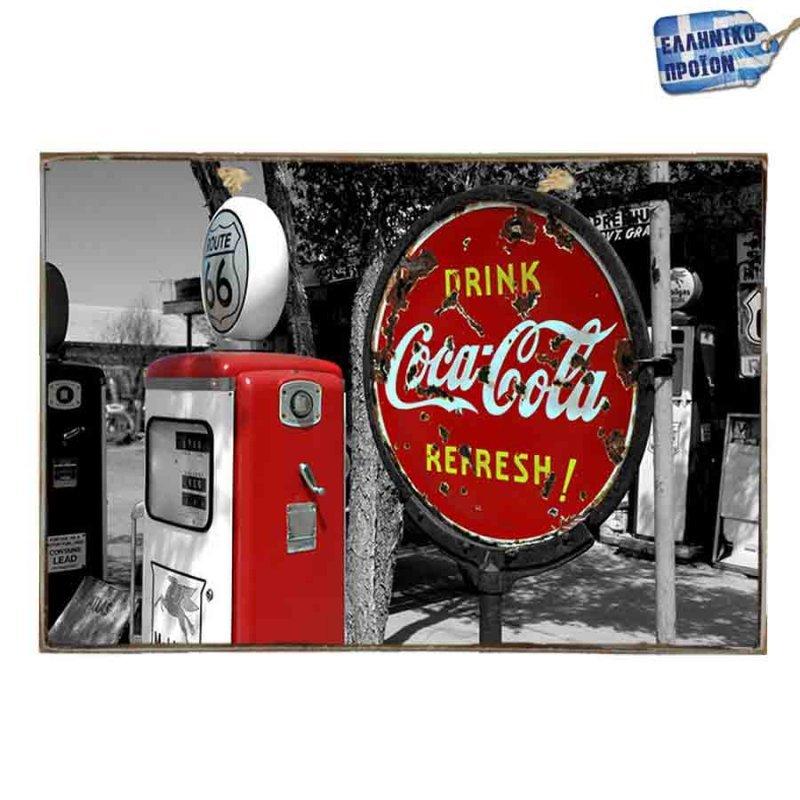Coca Cola Vintage Ξύλινο Πινακάκι 20 x 30 cm