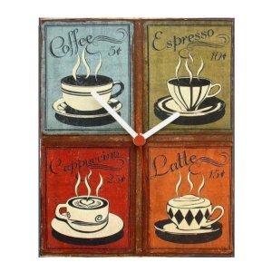 Coffee Menu vintage ρολόι τοίχου χειροποίητο