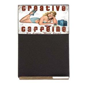 Creative Caffeine  Ξύλινος Χειροποίητος Μαυροπίνακας 38 x 26 cm