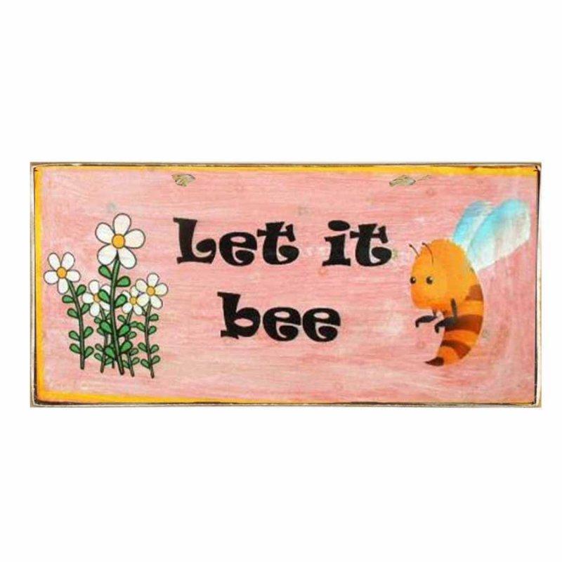 Διακοσμητικό Χειροποιήτο Πινακάκι Let it bee