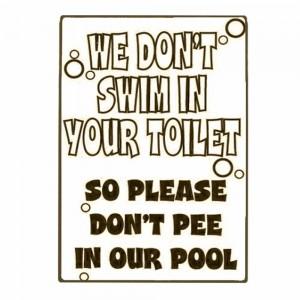 Don't Pee in Our Pool Vintage Ξύλινο Πινακάκι 20 x 30 cm