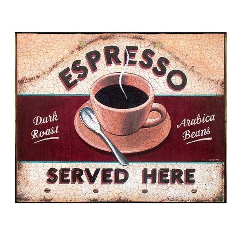 Espresso - Retro Πίνακας Χειροποίητος