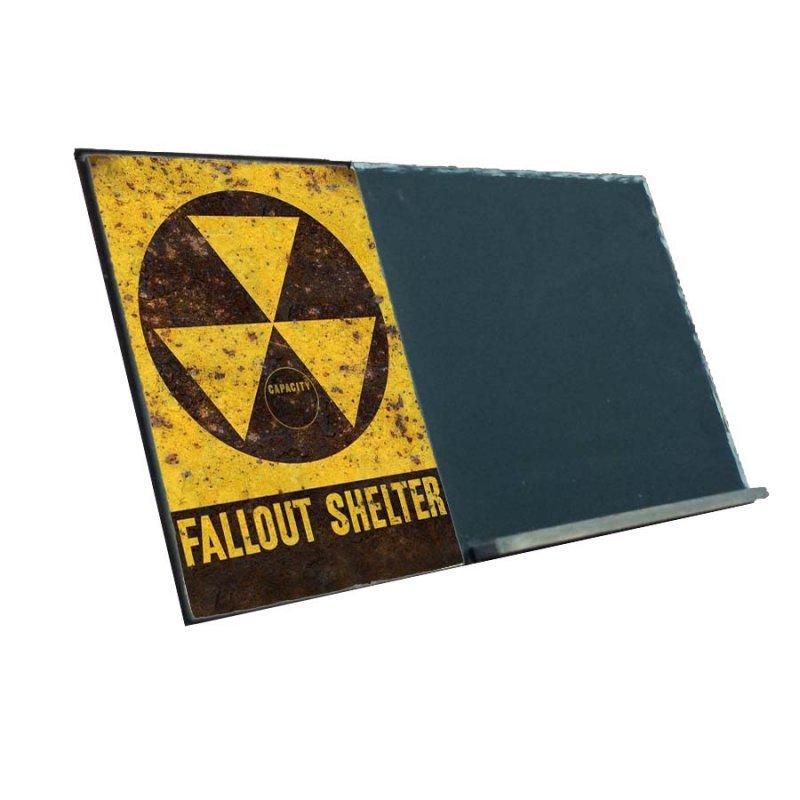 Fallout Shelter  Ξύλινος Χειροποίητος Μαυροπίνακας 38 x 26 cm