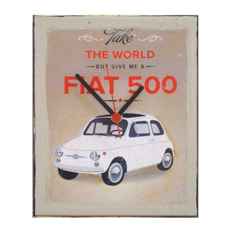Fiat 500 - Ρετρό ρολόι τοίχου χειροποίητο