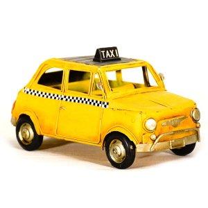 Fiat 500 Taxi Vintage μεταλλικό διακοσμητικό 25cm