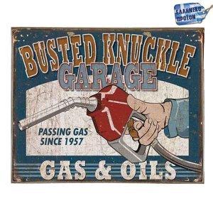 Gas and Oils Vintage Ξύλινο Πινακάκι 20 x 25 cm