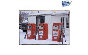 Gas Pump  Vintage Ξύλινο Πινακάκι 20 x 30 cm