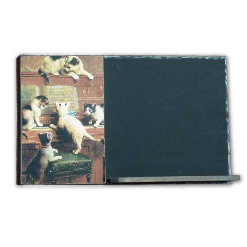 Γατούλες - Χειροποίητος Μαυροπίνακας 26 X 38