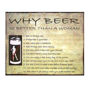 Γιατί μπύρα και όχι γυναίκα? Πίνακας Χειροποίητος  20cm X 25cm