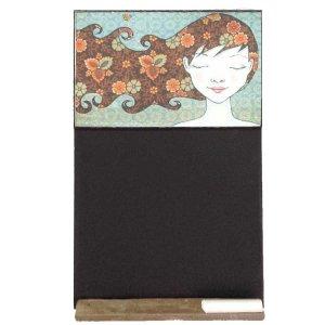 Girly Hair - Χειροποίητος Μαυροπίνακας 26 X 38