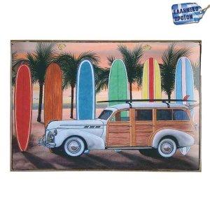 Gone Surfing Vintage Ξύλινο Πινακάκι 20 x 30 cm