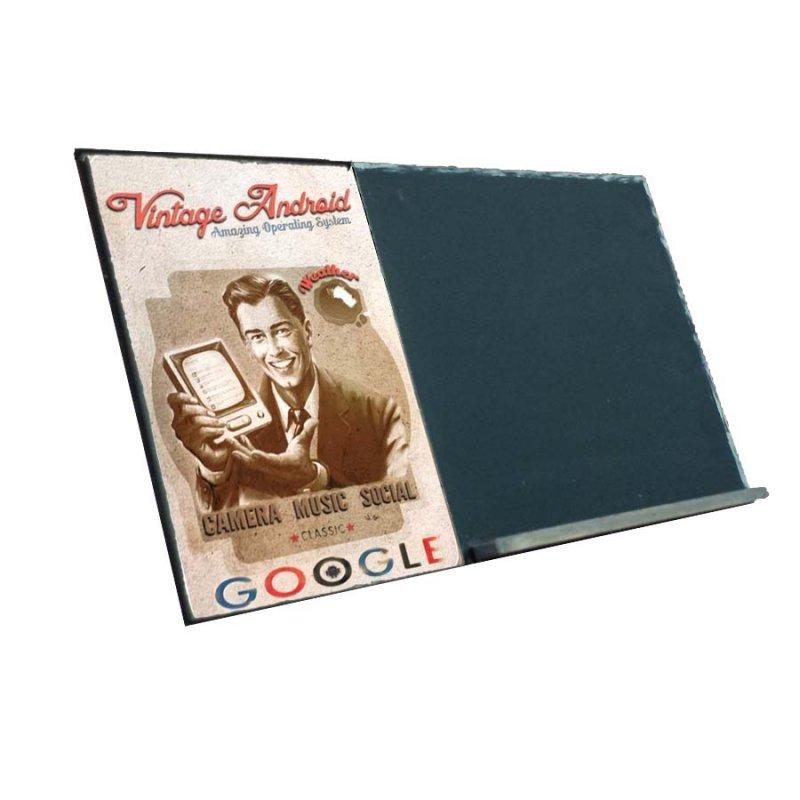 Google  Ξύλινος Χειροποίητος Μαυροπίνακας 38 x 26 cm