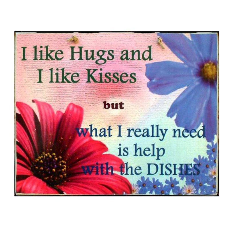 Hugs and Kisses' Πίνακας Χειροποίητος με χιουμοριστικό μήνυμα