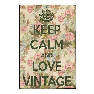 Keep Calm and Love Vintage -Vintage Ξύλινος  Πίνακας 20 x 30 cm