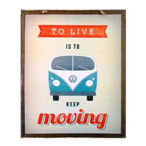 Keep Moving - Retro Πίνακας διακοσμητικός