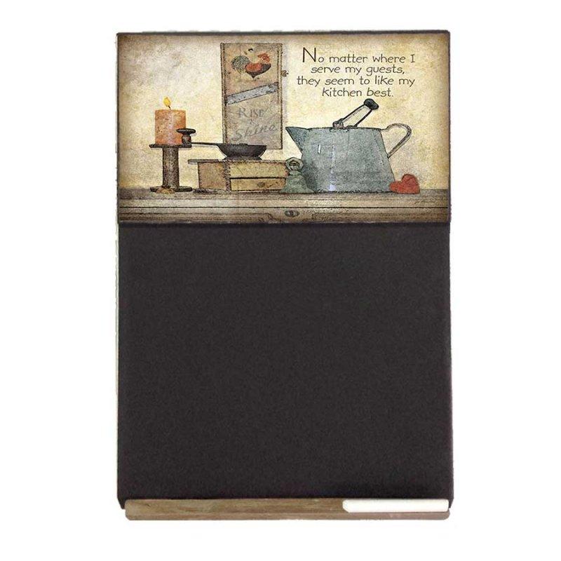 Kitchen Ξύλινος Χειροποίητος Μαυροπίνακας 38 x 26 cm