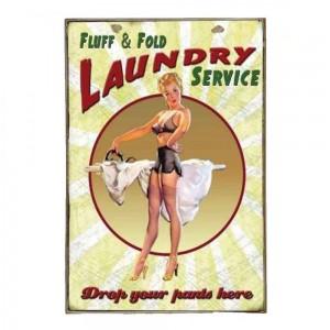 Laundry Vintage Ξύλινο Πινακάκι 20 x 30 cm