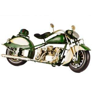 Μεταλλική διακοσμητική vintage μοτοσυκλέτα 28cm πράσινη