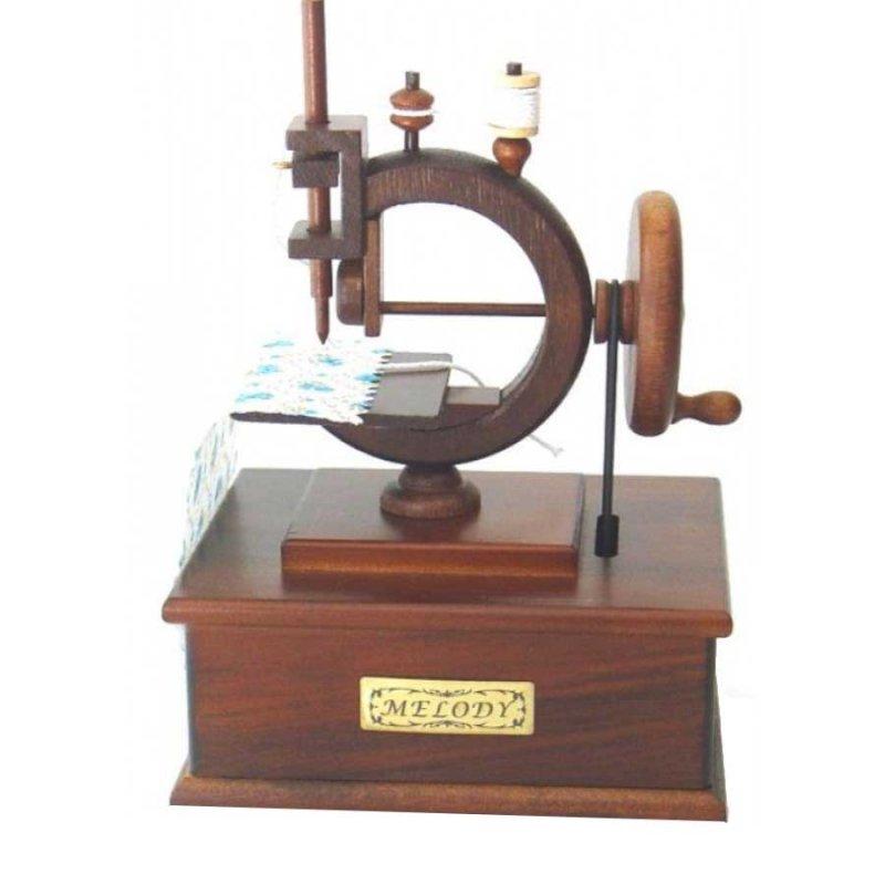 Μουσικό Κουτί Vintage Ραπτομηχανή Singer 12 x 17 cm