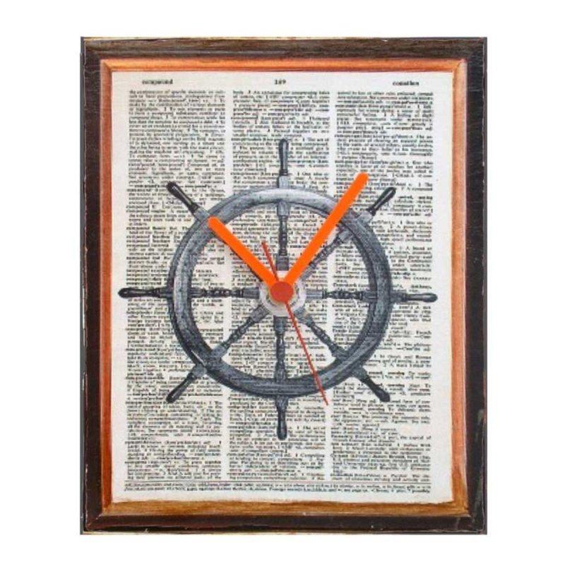 Nautica Ξύλινο Ρολόι τοίχου χειροποίητο