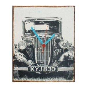 Old car -  Ρολόι τοίχου χειροποίητο ξύλινο