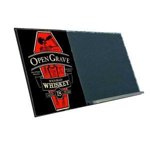 Open Grave  Ξύλινος Χειροποίητος Μαυροπίνακας 38 x 26 cm