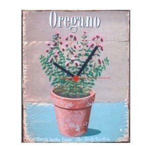 Oregano -  Ρολόι τοίχου χειροποίητο ξύλινο