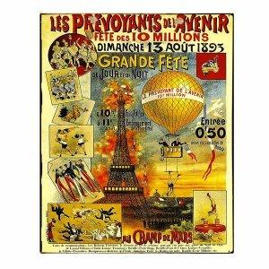 Paris - Vintage Πίνακας Χειροποίητος