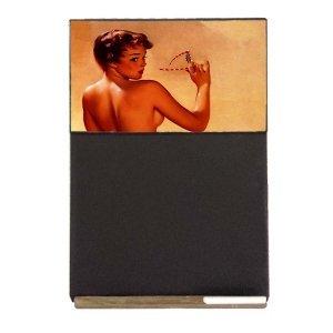 Pin Up Girl Ξύλινος Χειροποίητος Μαυροπίνακας 38 x 26 cm
