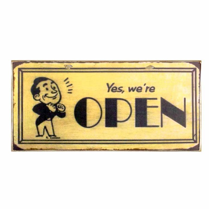 Πίνακας Χειροποίητος  διπλής όψης open / close