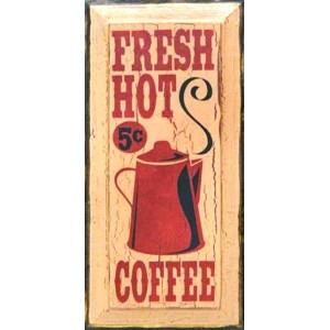 Πίνακας Χειροποίητος-Φρέσκος Ζεστός Καφές