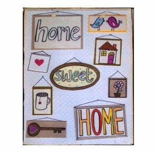 Πίνακας Χειροποίητος  Home Sweet Home με σύμβολα