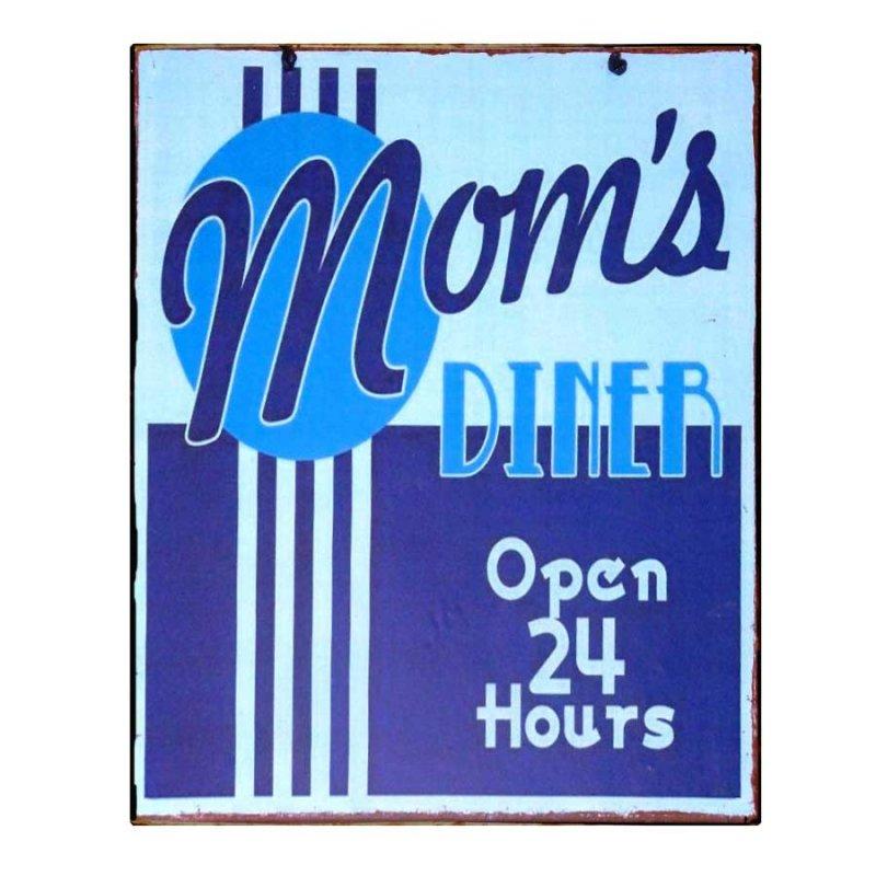 Πίνακας Χειροποίητος  Mom's Diner