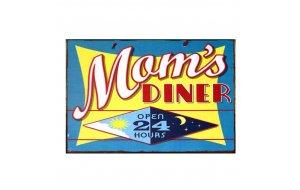 Πίνακας Χειροποίητος Mom's Diner Open 24 Hours