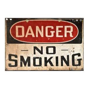 Πίνακας Χειροποίητος No smoking 20x25 KIR-1315